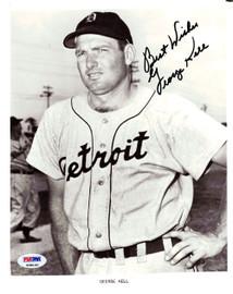 George Kell Autographed 8x10 Photo Detroit Tigers PSA/DNA #K08190