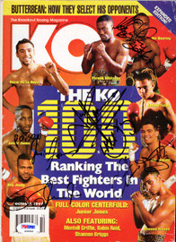 Arturo Gatti, Roy Jones Jr, Ike Quartey & Junior Jones Autographed KO Boxing Magazine PSA/DNA #S06900