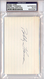 Bobby Thomson Autographed 3x5 Index Card PSA/DNA #83433291