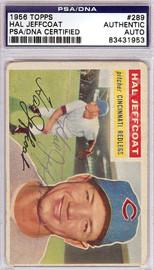 Hal Jeffcoat Autographed 1956 Topps Card #289 Cincinnati Redlegs PSA/DNA #83431953