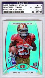 LaMichael James Autographed 2012 Topps Platinum Rookie Card #112 San Francisco 49ers PSA/DNA #83431707