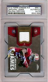 LaMichael James Autographed 2012 Topps Chrome Rookie Card #RR11 San Francisco 49ers PSA/DNA #83431659