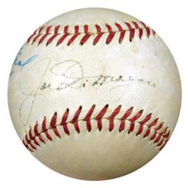 Joe DiMaggio Autographed AL Harridge Baseball New York Yankees 1940's Vintage Signature PSA/DNA #K39915
