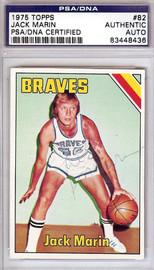 Jack Marin Autographed 1975 Topps Card #82 Buffalo Braves PSA/DNA #83448436