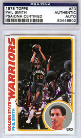 Phil Smith Autographed 1978 Topps Card #33 Golden State Warriors PSA/DNA #83448802