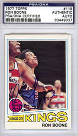 Ron Boone Autographed 1977 Topps Card #119 Kansas City Kings PSA/DNA #83449037