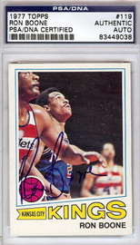 Ron Boone Autographed 1977 Topps Card #119 Kansas City Kings PSA/DNA #83449038