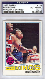 Ron Boone Autographed 1977 Topps Card #119 Kansas City Kings PSA/DNA #83449039
