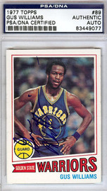 Gus Williams Autographed 1977 Topps Card #89 Golden State Warriors PSA/DNA #83449077
