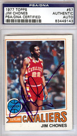 Jim Chones Autographed 1977 Topps Card #57 Cleveland Cavaliers PSA/DNA #83449143