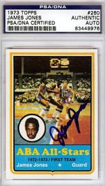 James Jones Autographed 1973 Topps Card #260 Utah Stars PSA/DNA #83449976