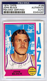 John Block Autographed 1974 Topps Card #168 New Orleans Jazz PSA/DNA #83454267