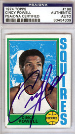 Cincy Powell Autographed 1974 Topps Card #198 Virginia Squires PSA/DNA #83454339