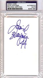 Dave Waymer Autographed 3x5 Index Card PSA/DNA #83451950