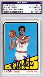 Lamar Green Autographed 1972 Topps Card #119 Phoenix Suns PSA/DNA #83448170