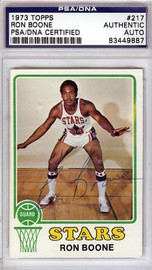 Ron Boone Autographed 1973 Topps Card #217 Utah Stars PSA/DNA #83449887