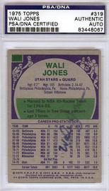 Wali Jones Autographed 1975 Topps Card #319 Utah Stars PSA/DNA #83448067
