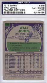Wali Jones Autographed 1975 Topps Card #319 Utah Stars PSA/DNA #83448068