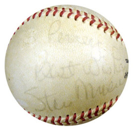 """Stan Musial Autographed NL Giles Baseball St. Louis Cardinals """"To Percey, Best Wishes"""" PSA/DNA #P41776"""