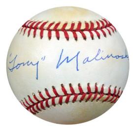 Tony Malinosky Autographed NL Baseball Brooklyn Dodgers PSA/DNA #Q36820
