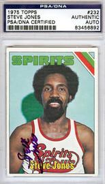 Steve Jones Autographed 1975 Topps Card #232 Spirits of St. Louis PSA/DNA #83456892