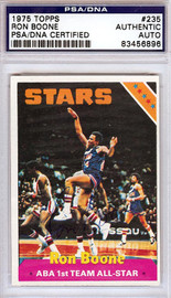 Ron Boone Autographed 1975 Topps Card #235 Utah Stars PSA/DNA #83456896