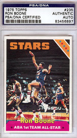 Ron Boone Autographed 1975 Topps Card #235 Utah Stars PSA/DNA #83456897