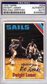 "Dwight ""Bo"" Lamar Autographed 1975 Topps Card #256 San Diego Sails PSA/DNA #83456922"