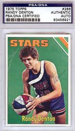 Randy Denton Autographed 1975 Topps Card #266 Utah Stars PSA/DNA #83456921