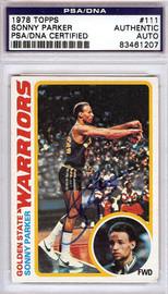Sonny Parker Autographed 1978 Topps Card #111 Golden State Warriors PSA/DNA #83461207