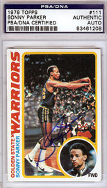 Sonny Parker Autographed 1978 Topps Card #111 Golden State Warriors PSA/DNA #83461208