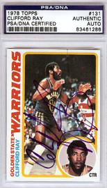 Clifford Ray Autographed 1978 Topps Card #131 Golden State Warriors PSA/DNA #83461286