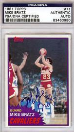 Mike Bratz Autographed 1981 Topps Card #71 Cleveland Cavaliers PSA/DNA #83460980
