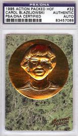 Carol Blazejowski Autographed 1995 Action Packed HOF Card #32 PSA/DNA #83457088