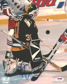 Ken Wregget Autographed 8x10 Photo Pittsburgh Penguins PSA/DNA #U96039