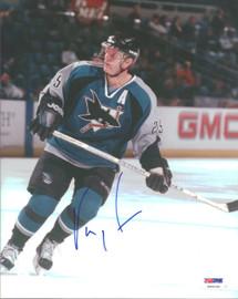 Vincent Damphousse Autographed 8x10 Photo San Jose Sharks PSA/DNA #U96194