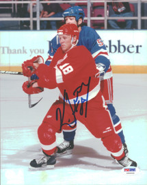 Kirk Maltby Autographed 8x10 Photo Detroit Red Wings PSA/DNA #U96643