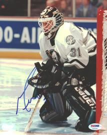 Guy Hebert Autographed 8x10 Photo Anaheim Ducks PSA/DNA #U96381