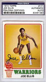 Joe Ellis Autographed 1973 Topps Card #171 Golden State Warriors PSA/DNA #83461383