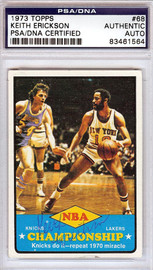 Keith Erickson Autographed 1973 Topps Card #68 Los Angeles Lakers PSA/DNA #83461564