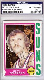 Keith Erickson Autographed 1974 Topps Card #53 Phoenix Suns PSA/DNA #83461727