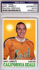 Gary Jarrett Autographed 1970 Topps Card #75 California Golden Seals PSA/DNA #83462213