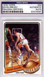 Kevin Grevey Autographed 1979 Topps Card #34 Washington Bullets PSA/DNA #83470587