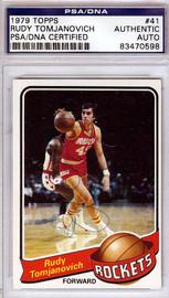 Rudy Tomjanovich Autographed 1979 Topps Card #41 Houston Rockets PSA/DNA #83470598