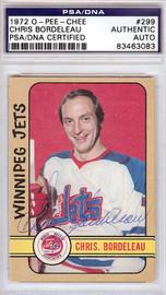 Chris Bordeleau Autographed 1972 O-Pee-Chee Card #299 Winnipeg Jets PSA/DNA #83463083