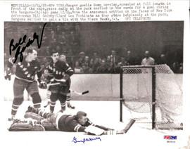 Gump Worsley & Bill Gadsby Autographed Magazine Page Photo New York Rangers PSA/DNA #U93500