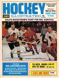Henri Richard Autographed Hockey Illustrated Magazine Cover Montreal Canadiens PSA/DNA #U93585