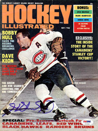 Henri Richard Autographed Hockey Illustrated Magazine Cover Montreal Canadiens PSA/DNA #U93588