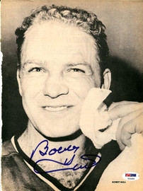 Bobby Hull Autographed Magazine Page Photo Chicago Blackhawks PSA/DNA #U93686