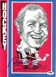Bobby Hull Autographed Magazine Page Photo Winnipeg Jets PSA/DNA #U93691